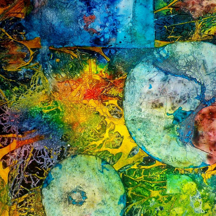 Organic Painting - Contempo Five by David Raderstorf