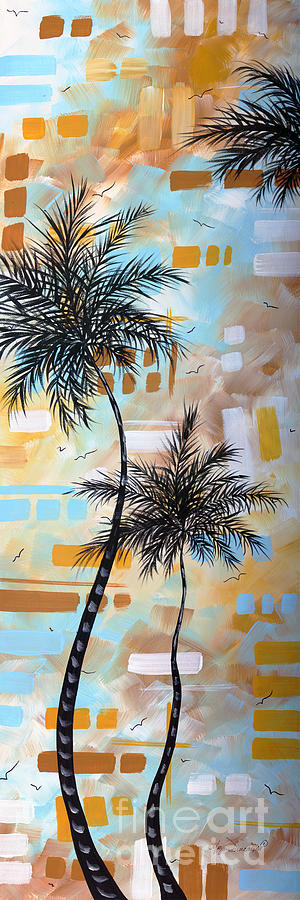 Contemporary Abstract Tropical Palm Tree Painting Colorful