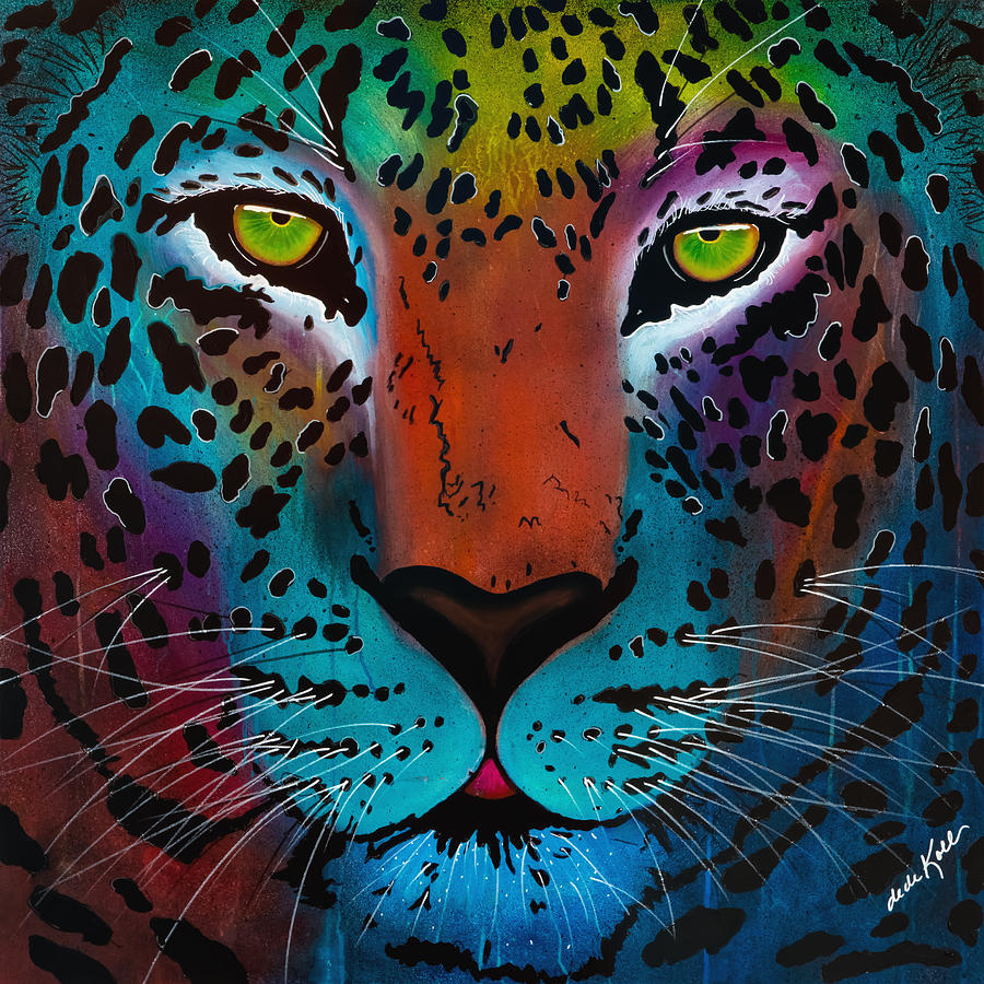 Acrylic Painting - Content Leopard by Dede Koll