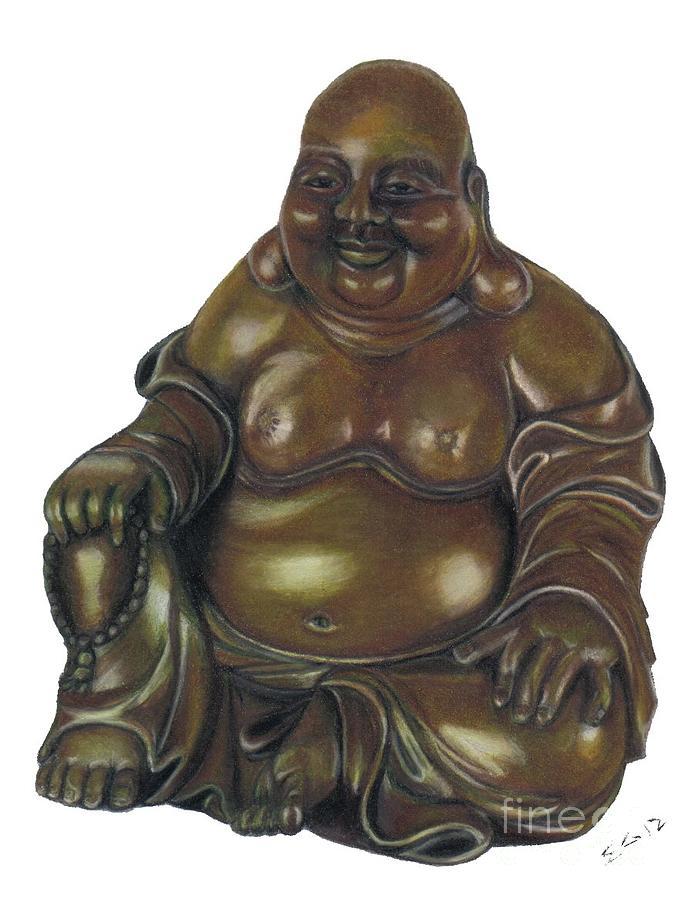 Buddha Drawing - Contentment by Ekta Gupta