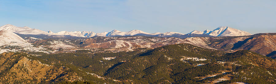 Continental Divide Rocky Mountain Snowy Peaks Panorama Photograph