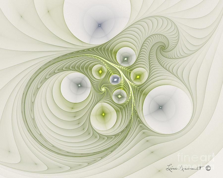 Abstract Digital Art - Continuous Spiral by Leona Arsenault