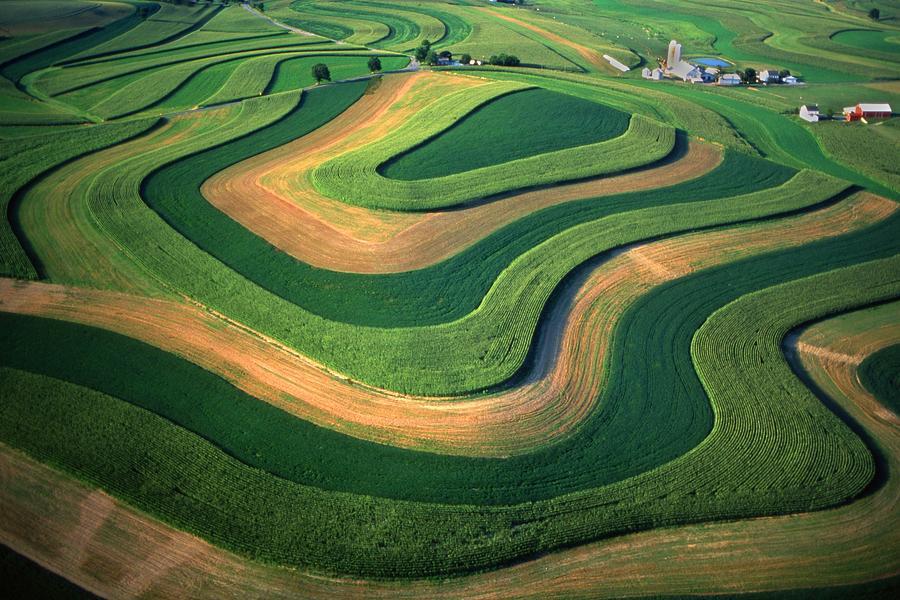 Pennsylvania Photograph - Contour Farm Art Aerial  by Blair Seitz