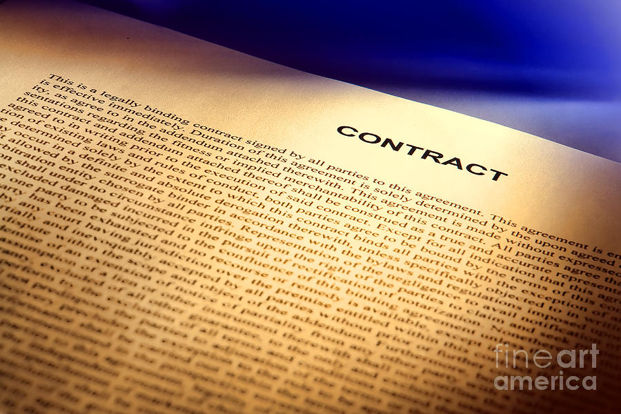Contract Photograph - Contract by Olivier Le Queinec