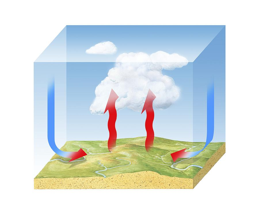 Convection Cloud Formation Diagram Photograph By Science Photo Library