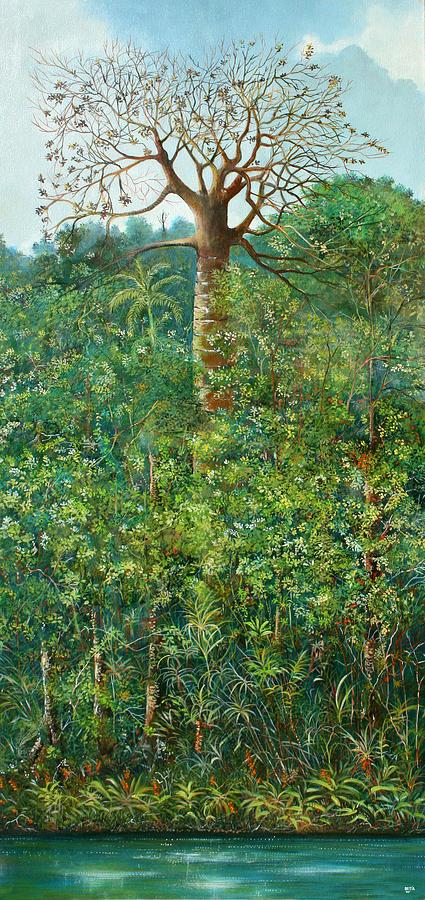 Landscape Painting - Conversacion En La Ceiba by Ricardo Sanchez Beitia