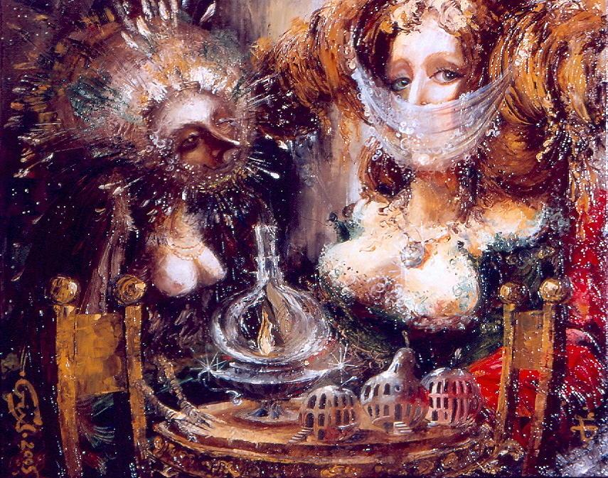 Conversation Painting - Conversation by Gia Chikvaidze