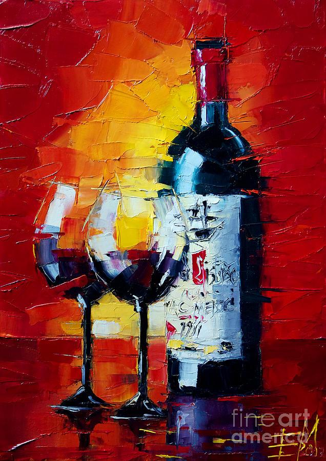 Oil Painting - Conviviality by Mona Edulesco