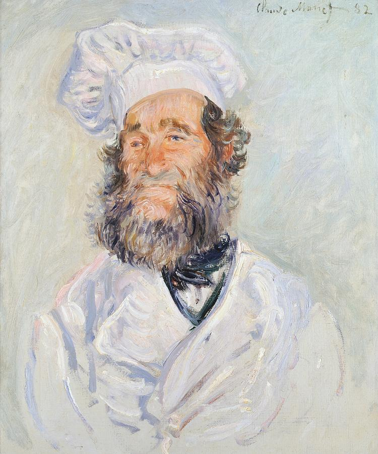Monet Painting - Cook by Claude Monet