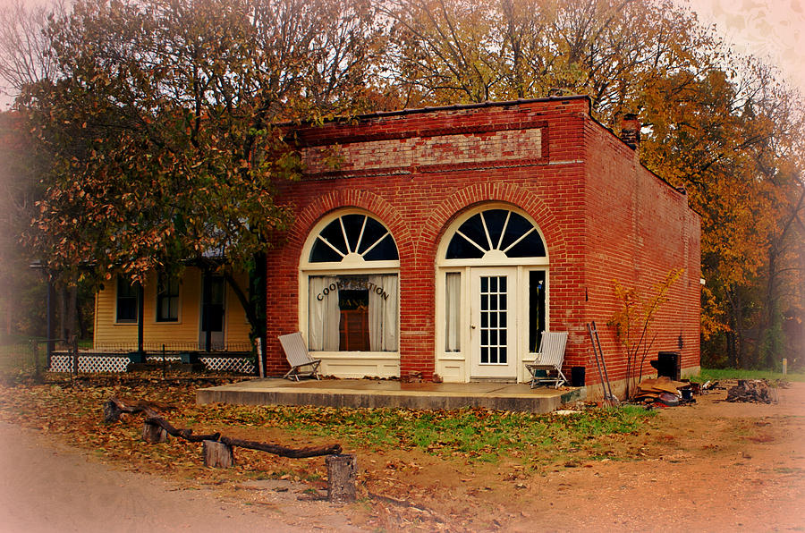 Ozarks Photograph - Cook Station Bank by Marty Koch