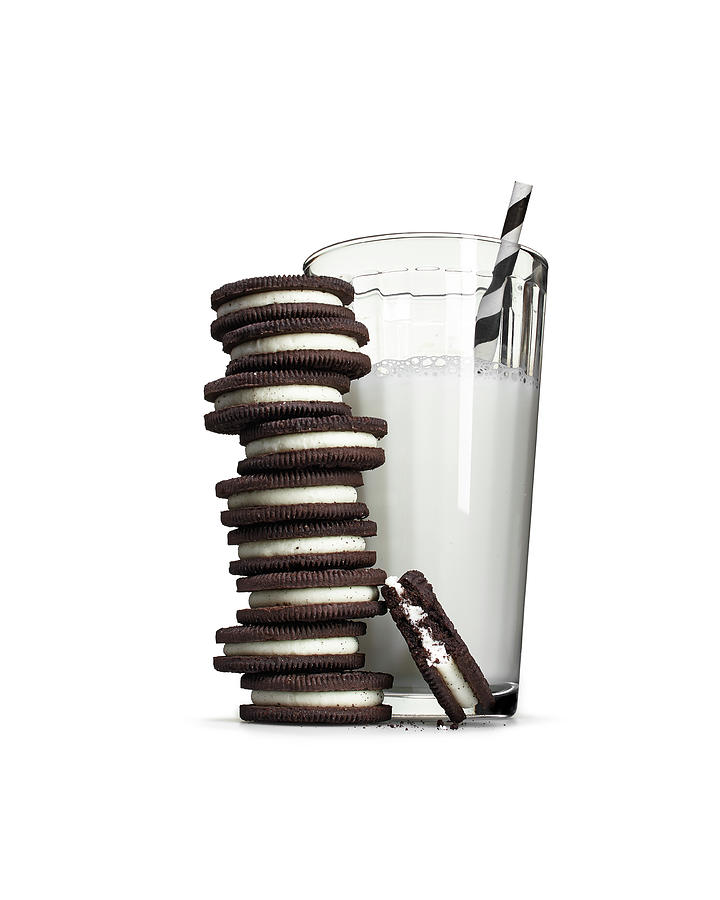 Cookies And Milk Photograph by Lew Robertson