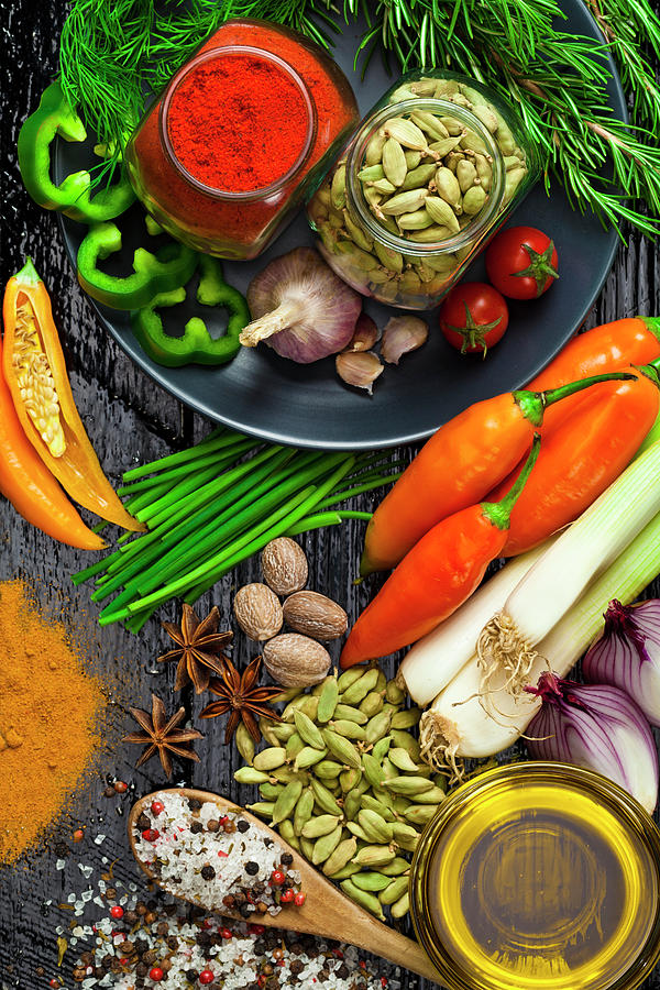 Cooking And Seasoning Ingredients Photograph by Fcafotodigital