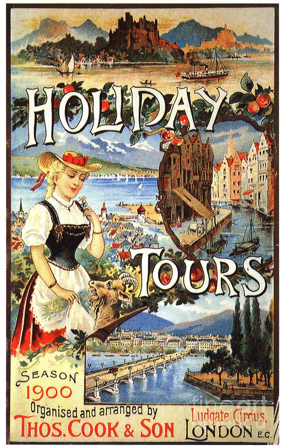1890�s Drawing - Cook�s 1890s Uk Holidays Holiday by The Advertising Archives