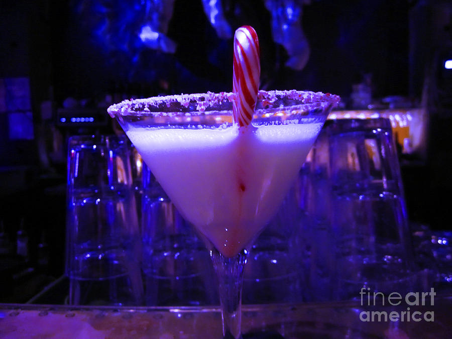Blue Background Photograph - Cool Blue Cocktail by Kym Backland