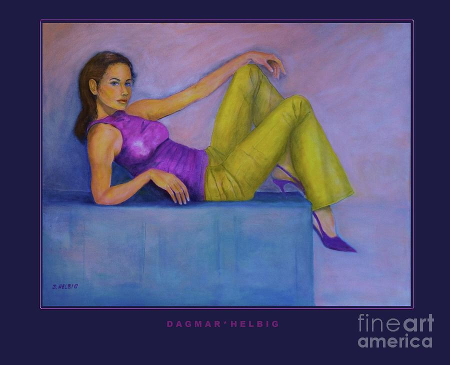Figural Painting - Cool by Dagmar Helbig