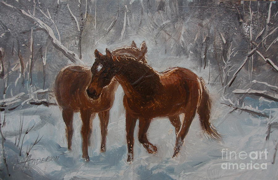 Horses Painting - Cool Down by Sherri Anderson