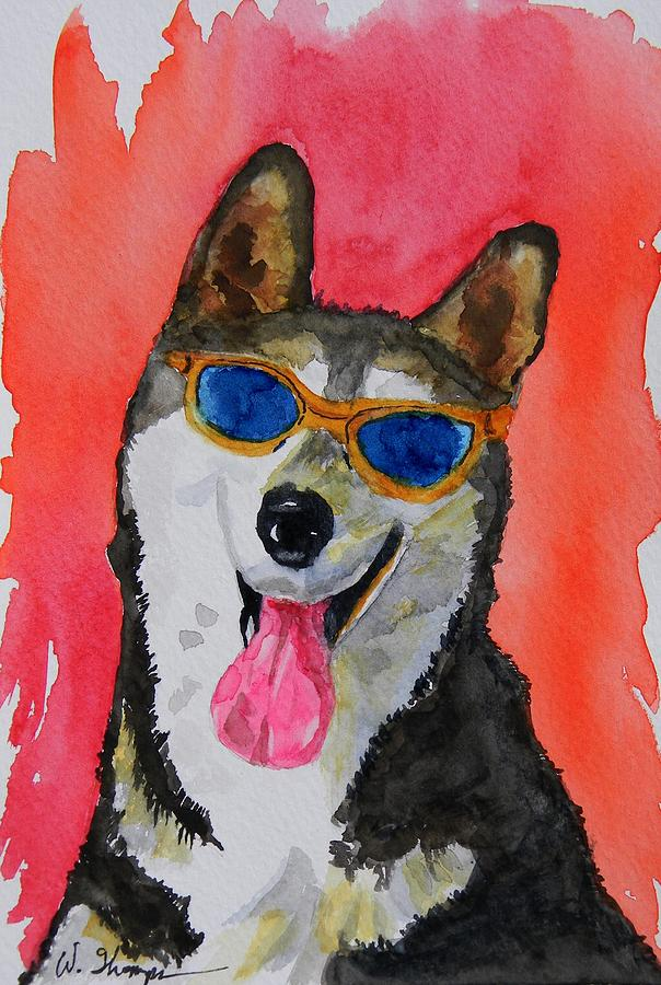 Cool Husky 3 Painting - Cool Husky 3 by Warren Thompson