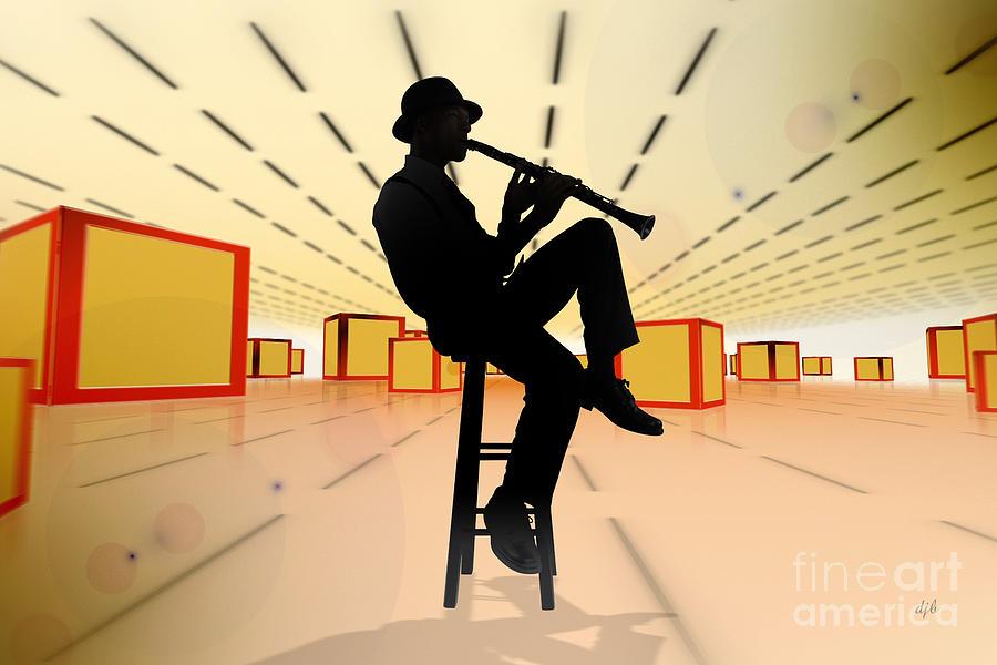 Jazz Digital Art - Cool Jazz 3 by Bedros Awak