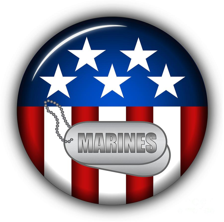 Marines Digital Art - Cool Marines Insignia by Pamela Johnson