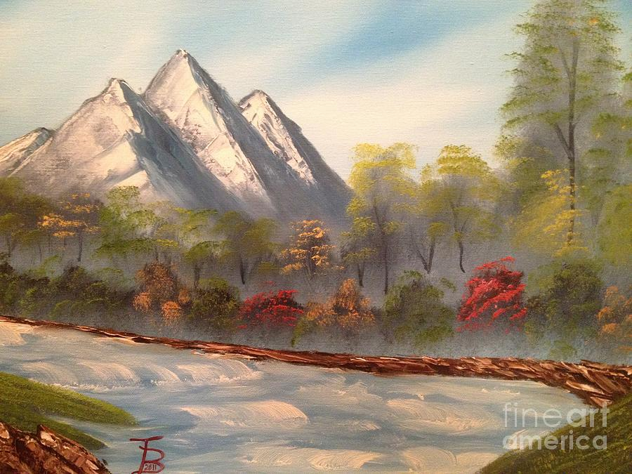 Original Painting - Cool Mountain River by Tim Blankenship