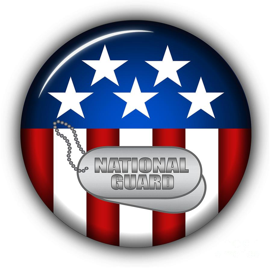 National Guard Digital Art - Cool National Guard Insignia by Pamela Johnson