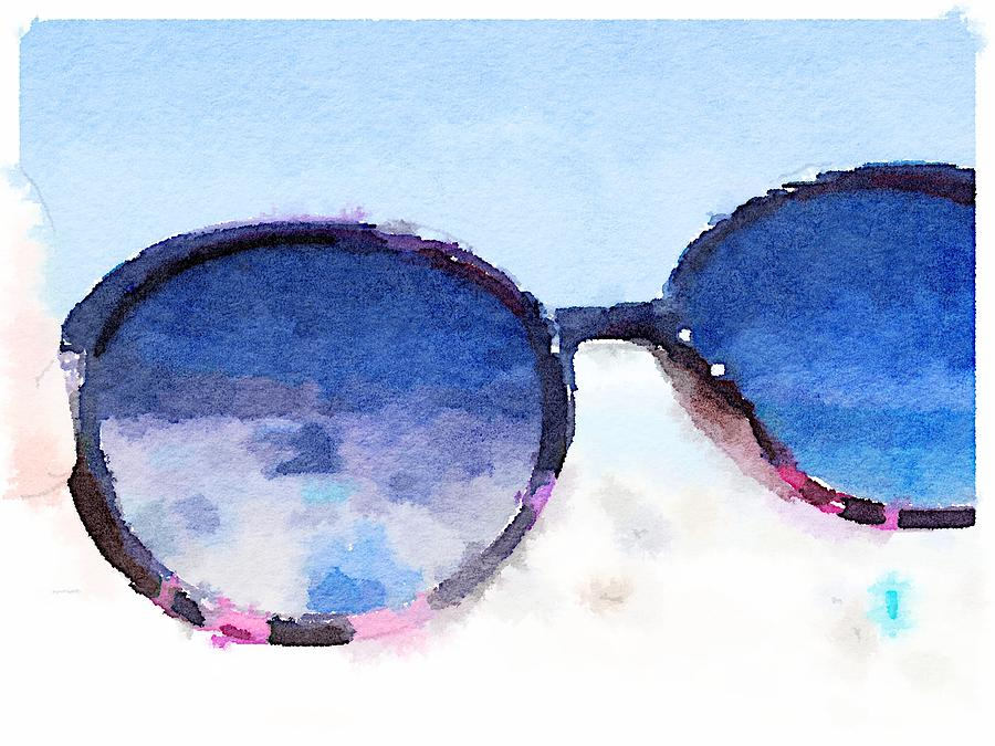 Sunglasses Digital Art - Cool Shades by Shannon Grissom