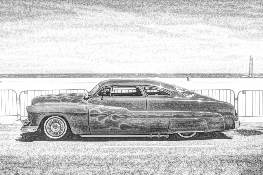 Custom Cars Photograph - Cool Stance by Thomas  MacPherson Jr