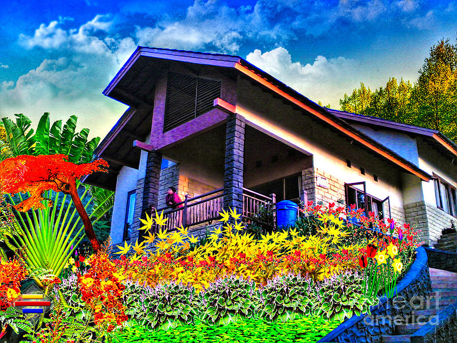 Lanscape Photograph - Cool Villa In Malang by Vidka Art