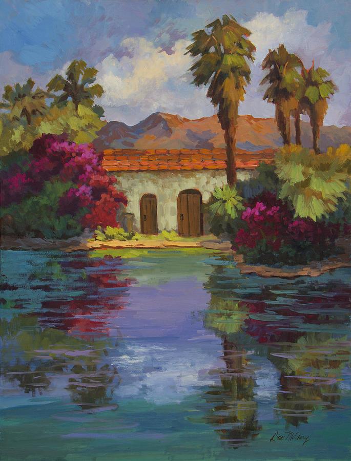 Desert Painting - Cool Waters 2 by Diane McClary