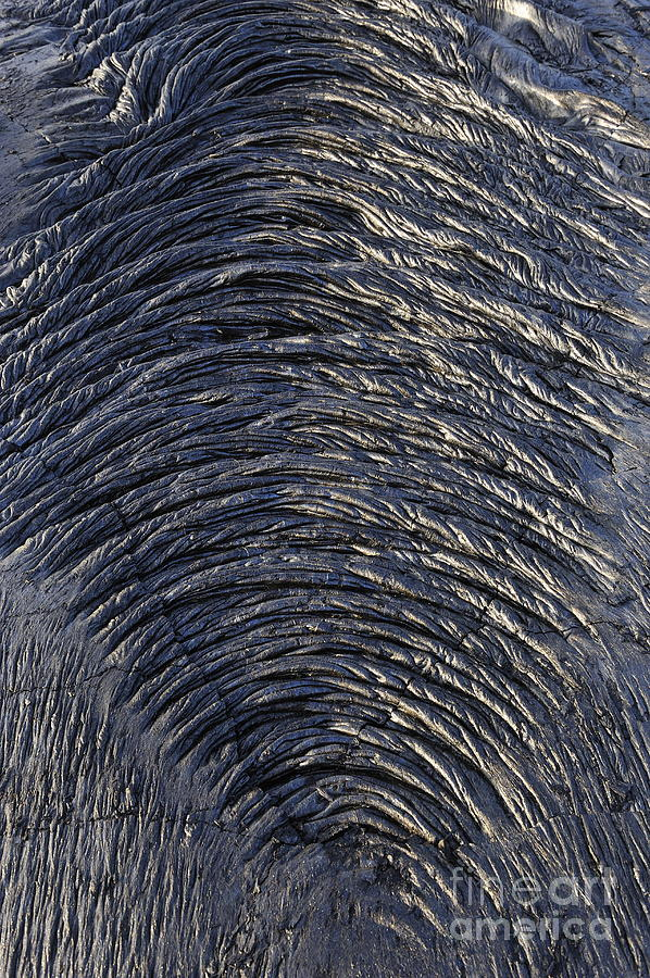Danger Photograph - Cooled Pahoehoe Lava Wrinkles by Sami Sarkis