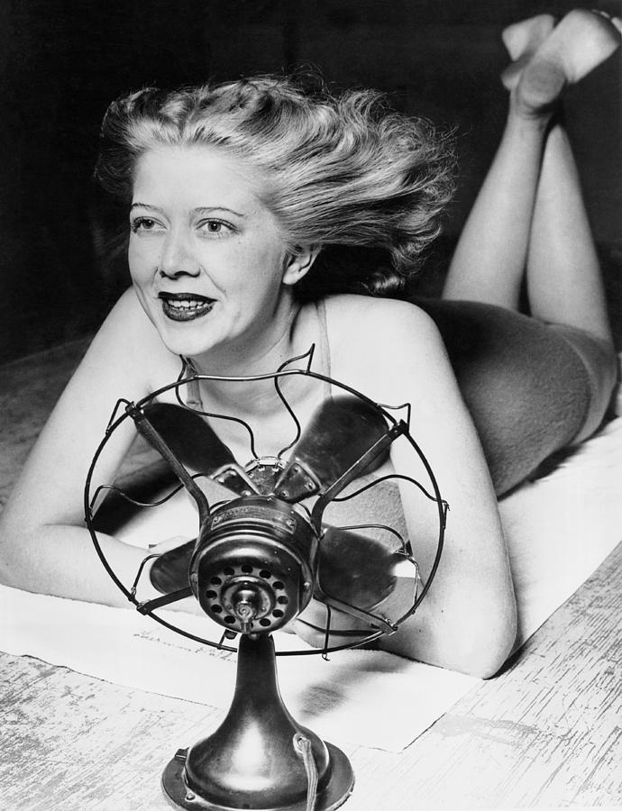 1939 Photograph - Cooling Fan For Hot Spell by Joe Denarie
