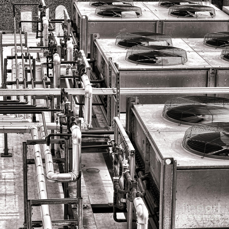Hvac Photograph - Cooling Force by Olivier Le Queinec