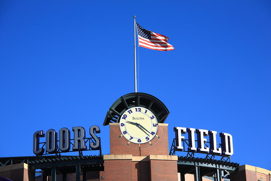 America Photograph - Coors Field - Colorado Rockies by Frank Romeo