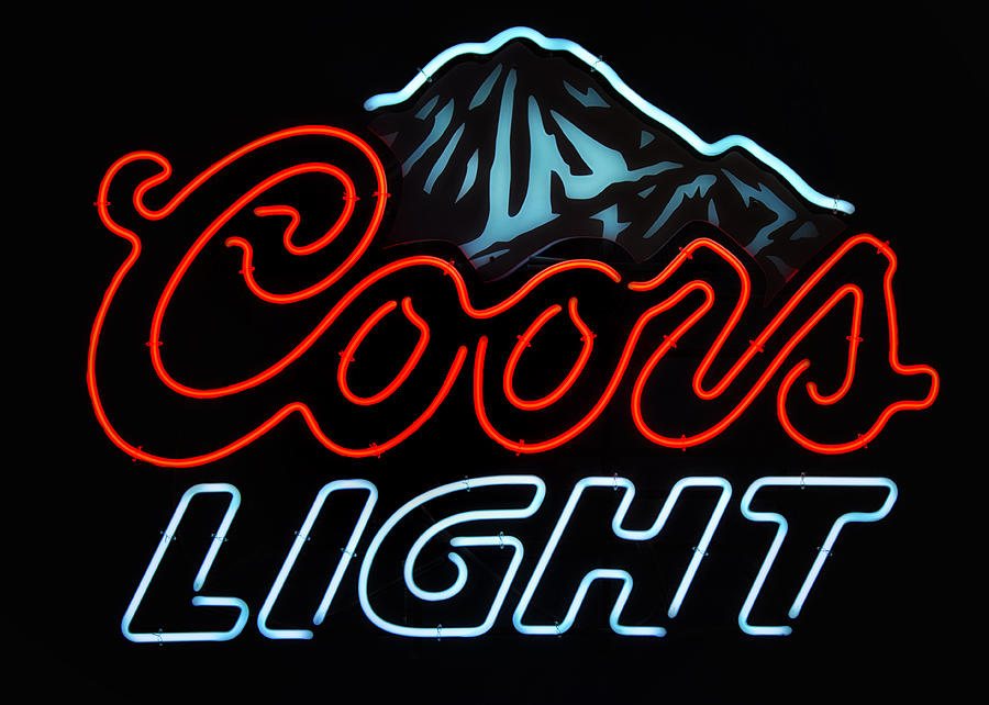 Coors Light Sign Photograph by Linda Tiepelman