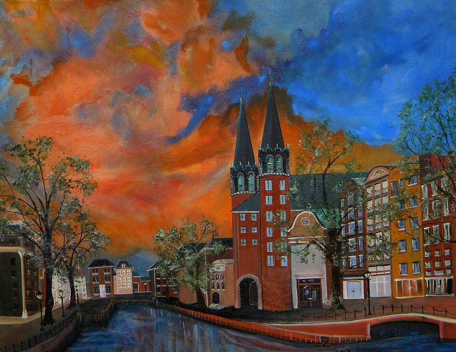 Colorful Painting - Copenhagen by Ken Caffey