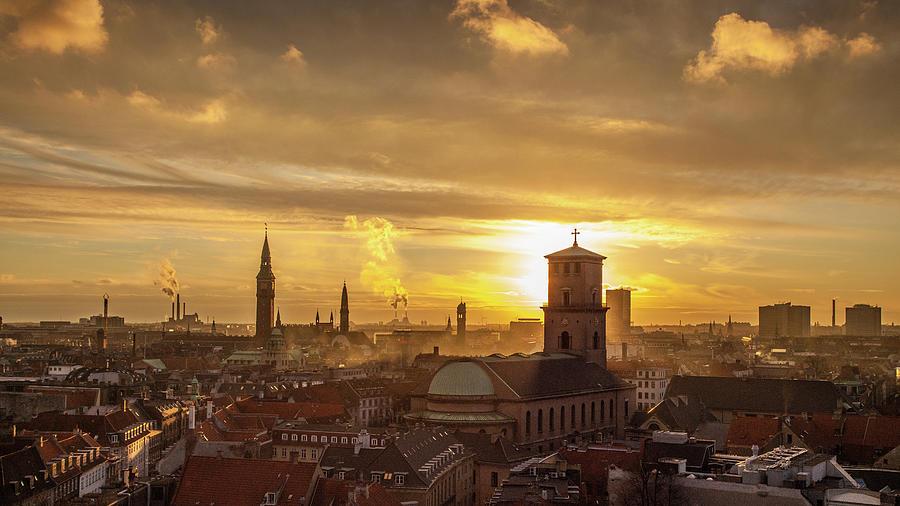 Copenhagen Sunset Photograph by Kay Wiegand