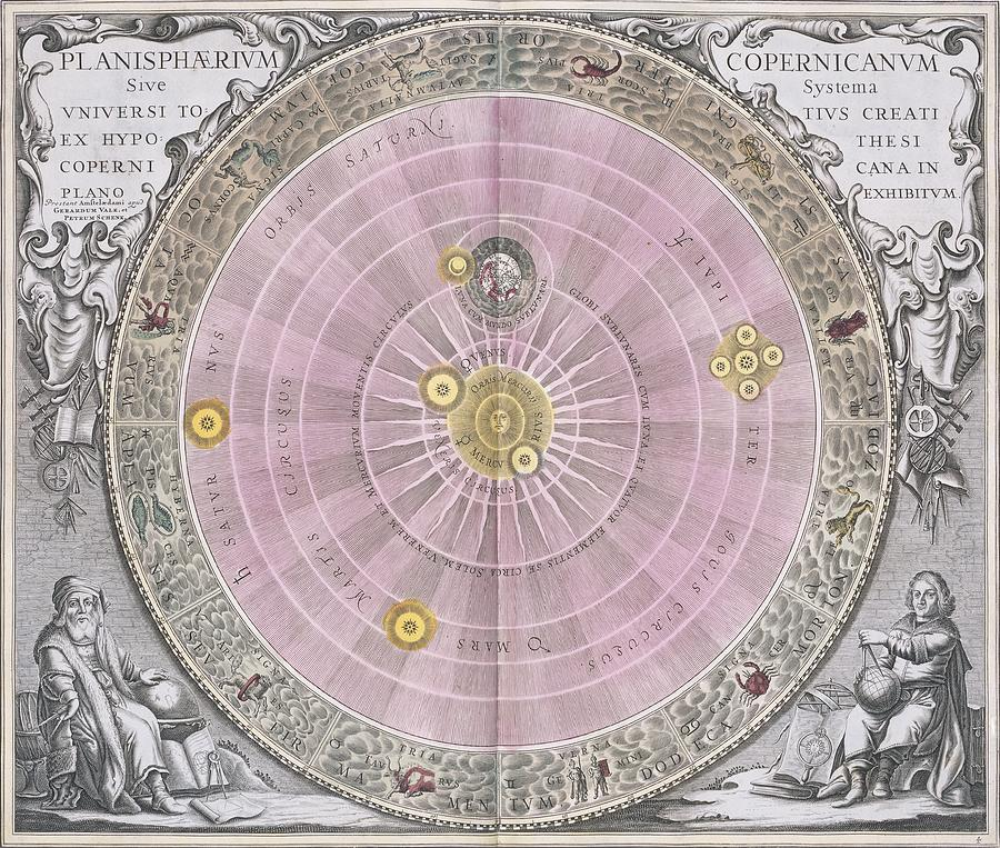 Copernican System Photograph - Copernican Planisphere, 1708 by Science Photo Library