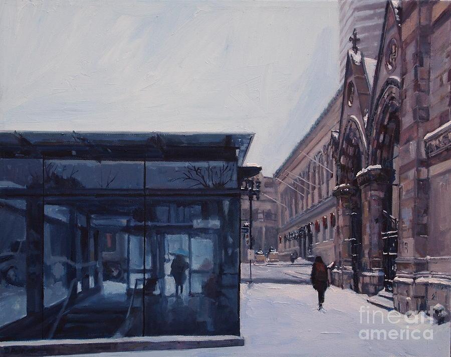 Boston Painting - Copley Winter by Deb Putnam