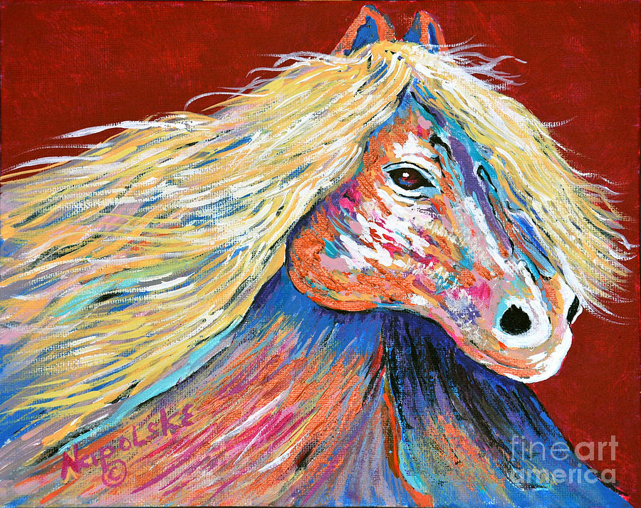 COPPER Abstract Horse by Barney Napolske