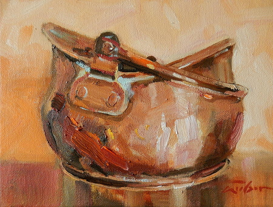 Copper Painting - Copper Bowl by Ron Wilson