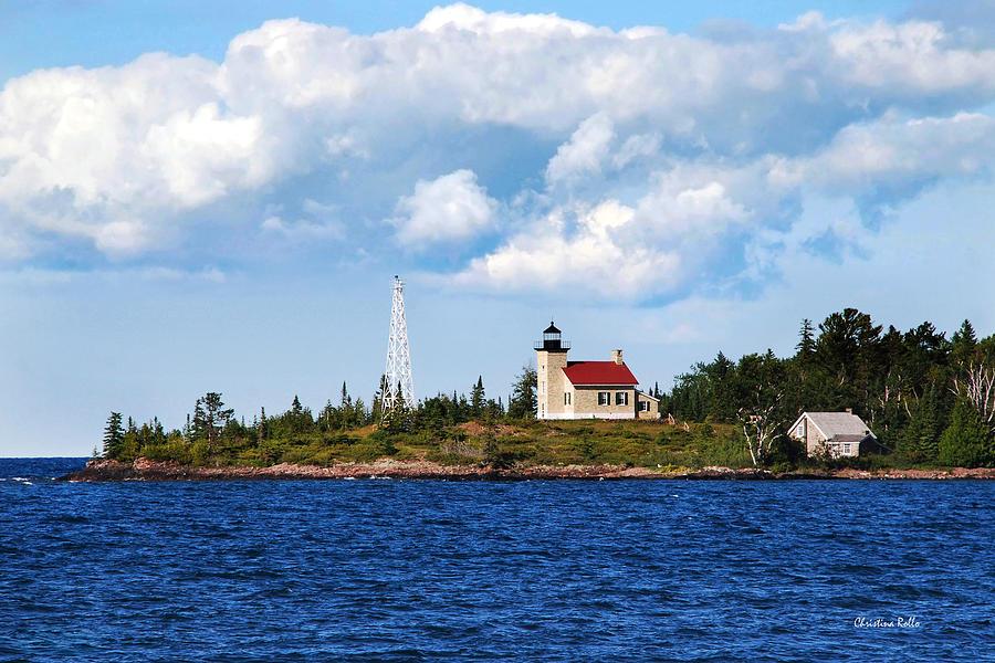 Copper Harbor Photograph - Copper Harbor Lighthouse by Christina Rollo