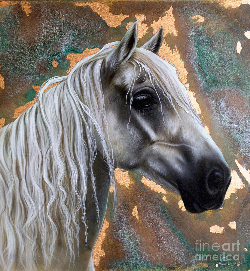 Copper Painting - Copper Horse by Sandi Baker