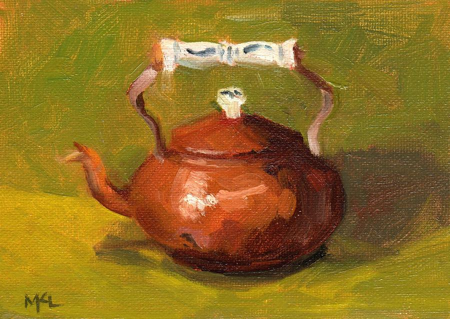Still Life Painting - Copper Kettle by Marlene Lee