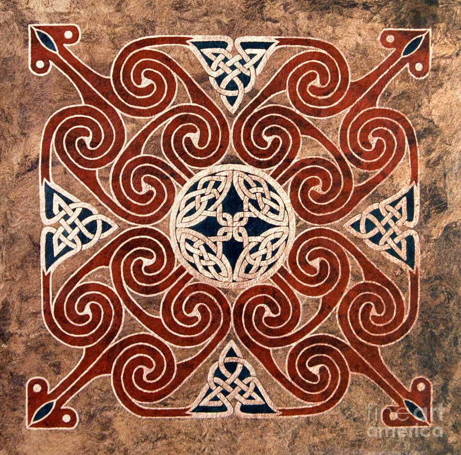 Celtic Painting - Copper Knot by Cari Buziak
