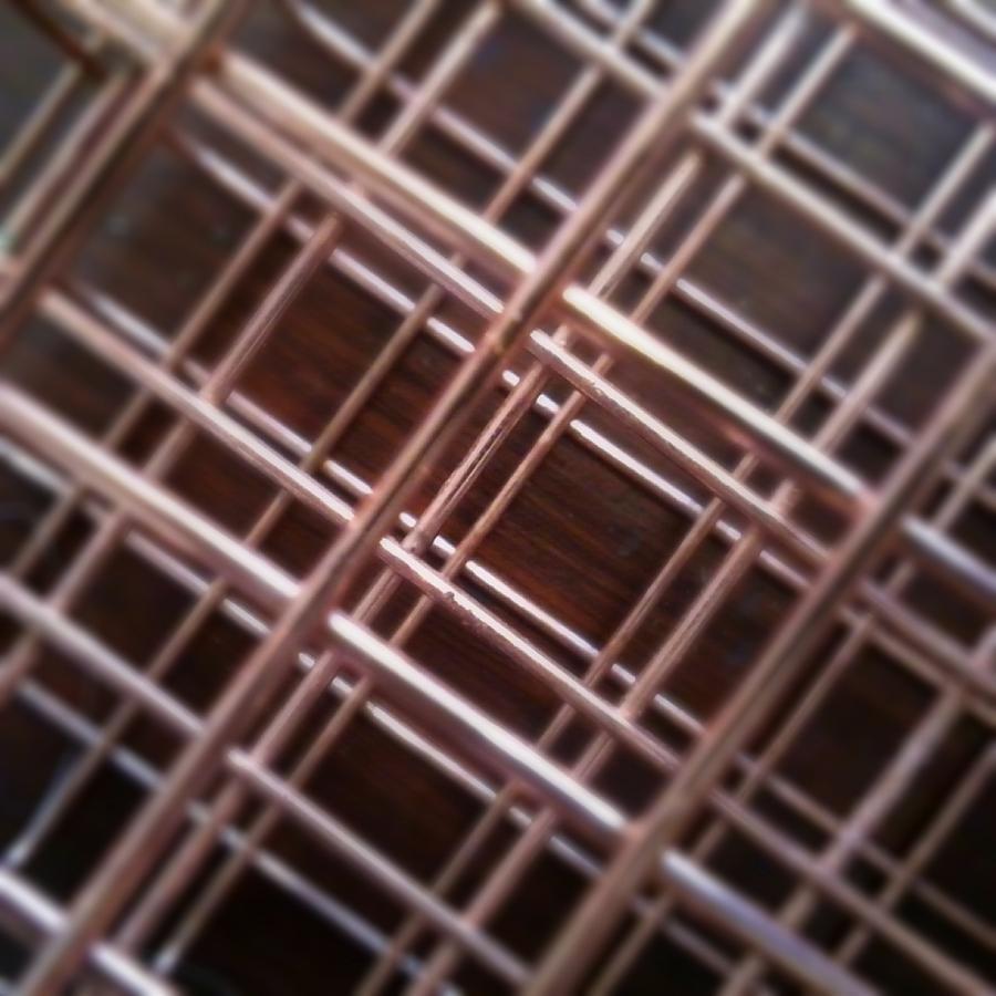 Art Photograph - Copper Plaid by Jaime Neo