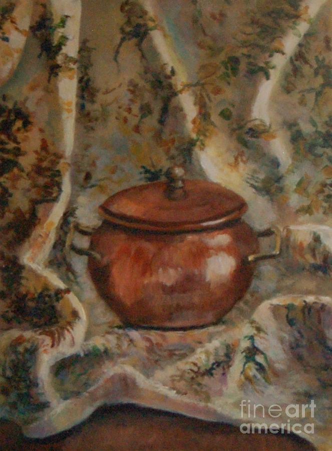 Copper Pot Painting - Copper Pot by Jana Baker