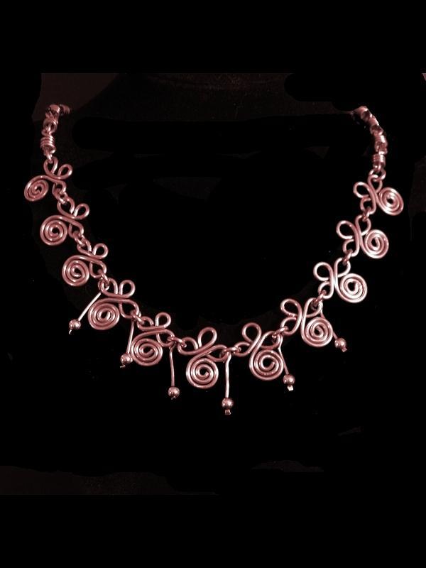 Necklace Jewelry - Copper Spirals by Jan Brieger-Scranton