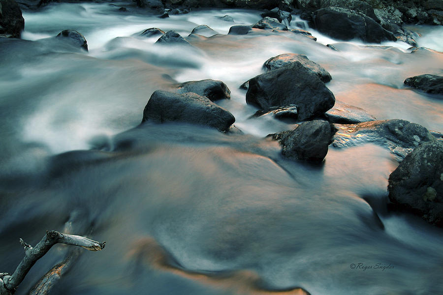 Unique Photograph - Copper Stream 1 by Roger Snyder