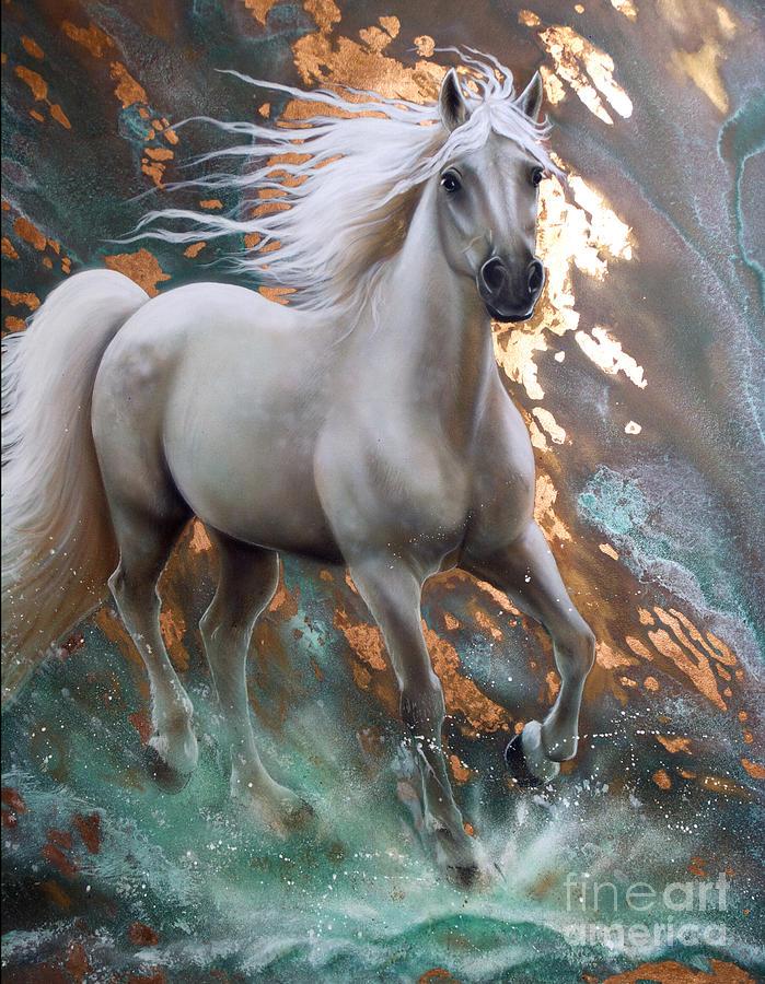 Copper Painting - Copper Sundancer - Horse by Sandi Baker