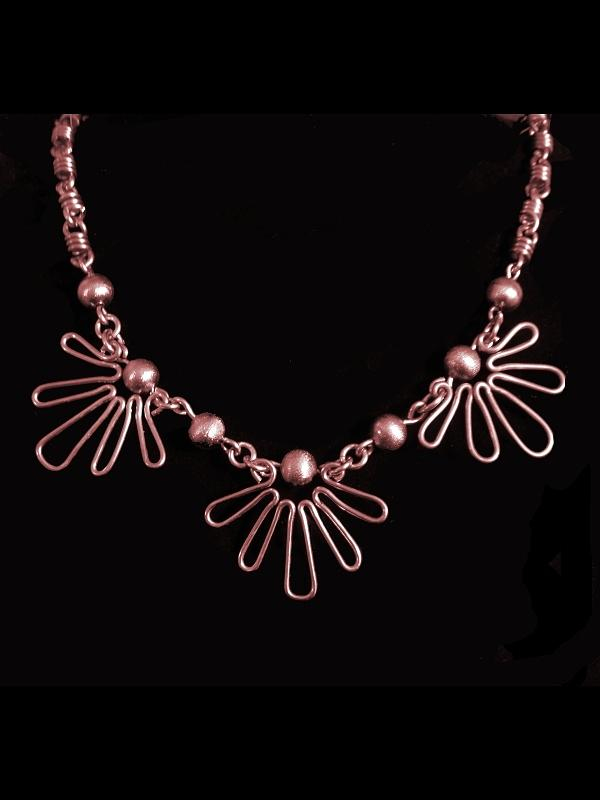 Necklace Jewelry - Copper Suns by Jan Brieger-Scranton
